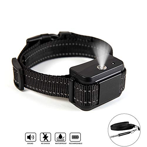 TSWTECH Citronella Spray Bark Stop Collar,Rechargeable Anti-Bark Collar,Automatic Training Spray Bark Collar No Shock Humane Collar (Bark Collar with Dog Whistle)