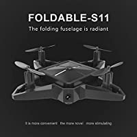 Hanbaili S11 Foldable Drone With WIFI Camera Real-time Transmission,One-touch take-off/Altitude Hold/APP Control Cool Appearance Drone with Headless Mode for Kids