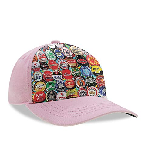 YongColer Unisex Style World Beer Bottle Caps Set Dad Hat, Relaxed Fit Trucker Hat, Baseball Cap, Slouch Hat, Breathable Moisture Wicking Adjustable Snapback Hat for Baseball ()