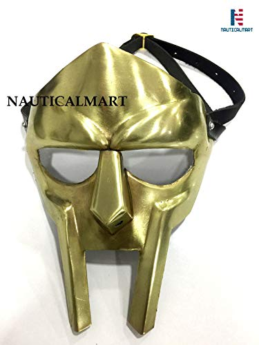 NauticalMart MF Doom Rapper Madvillain Gladiator Mask (Brass) -