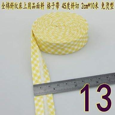 Cintas de bies de 25 mm de Ancho, de algodón Plegado Individual ...