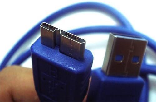 USB 3.0 SYNC DATA PC CABLE FOR TOSHIBA CANVIO CONNECT HDTC715XW3C1 HDTC715XR3C1