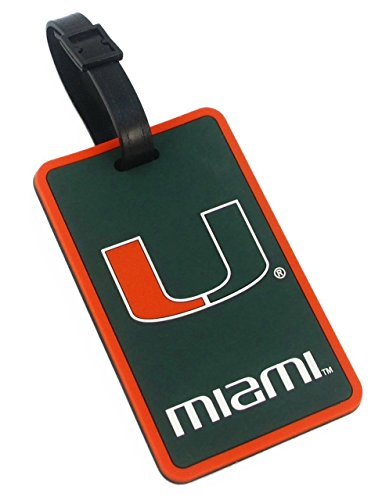 aminco NCAA Miami Hurricanes Soft Bag Tag from aminco