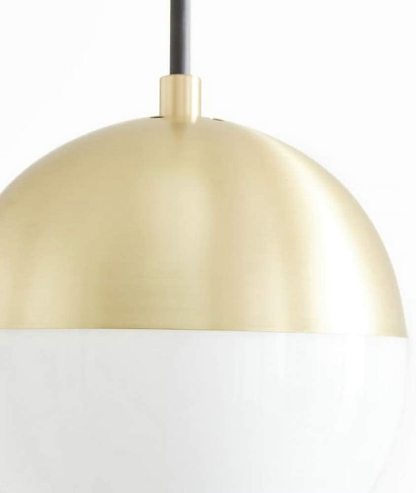 Vintage Industrial Chandelier Pendant Light Modern Chandelier with Milky White Lampshade Ceiling Lamp for Living Room Corridor Island,Gold,1head