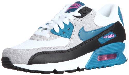 Nike Women's Air Max 90 Essential White/Green Abyss/Rd Vlt/Blk Running Shoe 10 Women US