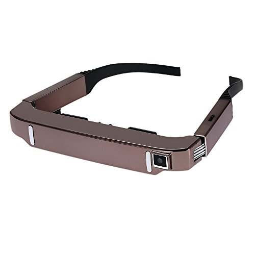docooler VISION-800 Smart Android WiFi Brille 80 Zoll virtuelle Breitbild Videobrille tragbare 3D Brille Private Theater mit 5MP HD Kamera Bluetooth 4.0 Intelligent Media Player Rose Gold