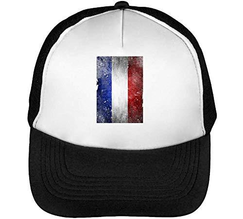 Beisbol Gorras Snapback Blanco Flag France Hombre Retro Negro nqEXAUc