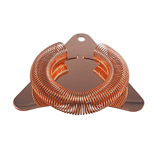 Ice Strainer - Cocktail Strainer Copper plated for Professional barware or home use. Makes the perfect gift for the Mixologist in your life. Shaken or stirred cocktails by TASTE DRINK GO.