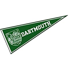 Our Dartmouth College Pennants are an easy way to show your college team allegiance in your sports room, game room, office, bedroom, or any room by displaying on any wall! These college pennants measure a full size 12x30 inches, are made of felt, and...