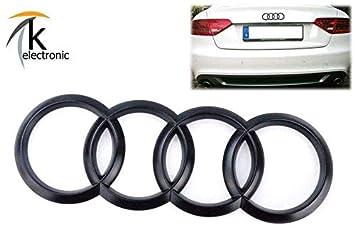 k-electronic Audi A5 S5 8T Sportback Emblema Negro Mate/Audi Anillos Trasera Trasera para Maletero: Amazon.es: Coche y moto