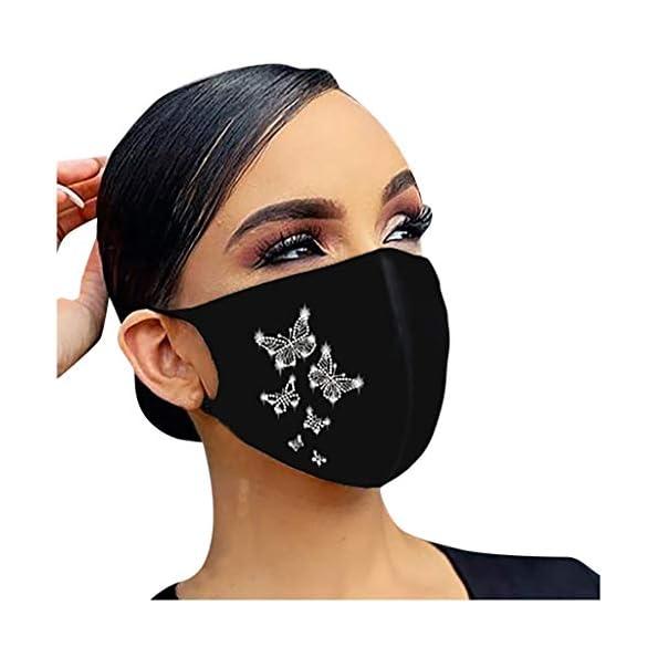 Lomelomme-Glnzend-Strass-Mund-Nasenschutz-Damen-Waschbar-Mundschutz-mit-Motiv-Baumwolle-Glitzer-Wiederverwendbar-Atmungsaktiv-Mund-und-Nasenschutz-Stoff