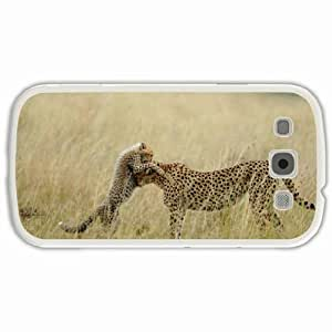 Personalized Samsung Galaxy S3 SIII 9300 Back Cover Diy PC Hard Shell Case Cheetah White