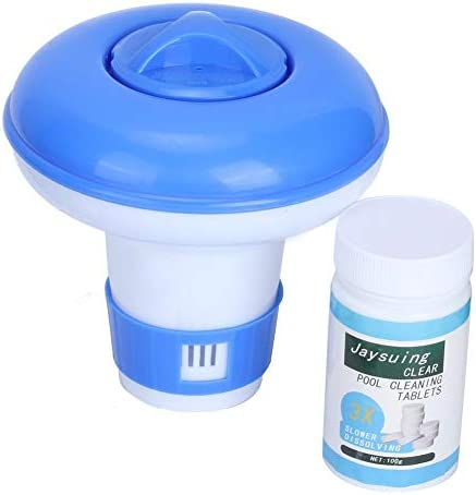 化学ディスペンサー、自動フローティング塩素タブレット化学ディスペンサープールクリーナープールアクセサリー塩素タブレット用プール塩素フローター