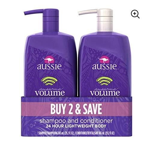 Aussie Miracle Volume Shampoo & Aussie Miracle Volume Conditioner, Two 26.2 oz Pump Bottles