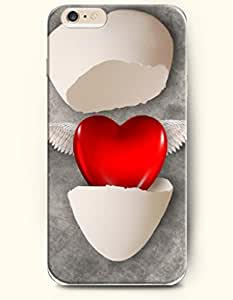 OOFIT Apple iPhone 6 Case 4.7 Inches - Broken Eggshell and Flying Heart