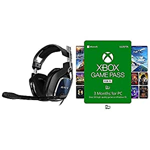 ASTRO Gaming A40 TR Wired Gaming Headset (Xbox Series X|S, Xbox One, PS5, PS4, PC, Mac) Black/Blue with Xbox Game Pass…
