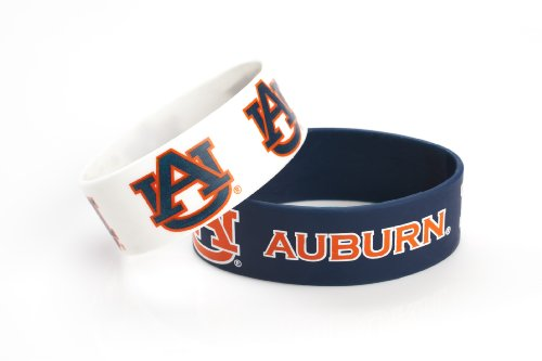 (aminco NCAA Auburn Tigers Silicone Rubber Bracelet, 2-Pack)