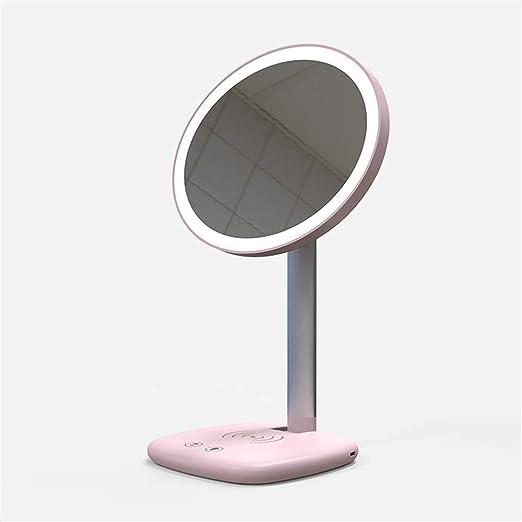 MGEU LED Espejo de Maquillaje Teléfono móvil Cargador inalámbrico ...