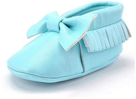 Amazemarket Zapatos de bebé Niñas Infante Niños Prewalker Primero Paseo Cute Casual PU Mocasines Antideslizante Suave