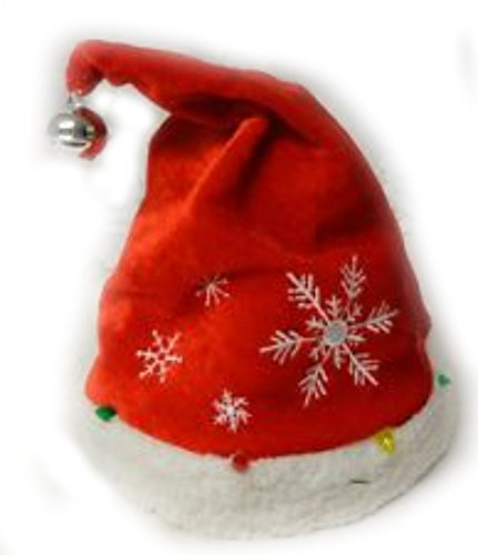 5bd2800cc28af Bright Red Christmas Holiday Light-Up Musical Animated Dancing Santa Elf Hat  - Sings