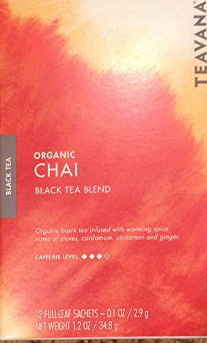 Starbucks Teavana Organic Chai Black Tea Blend - 12 Full-Leaf Sachets by Teavana