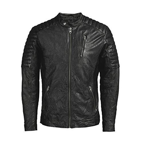 Giacca Uomo Nero Lamb Jack Vintage Noos Jjvrichard Jones Leather amp; Jacket qHfx1wS