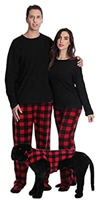 #followme Matching Pajamas for Couples, Dog and Owner Buffalo Plaid