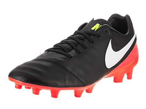 Nike Men's Tiempo Mystic V Fg Black/White Hyper Orange Volt Soccer Cleat 7.5 Men US