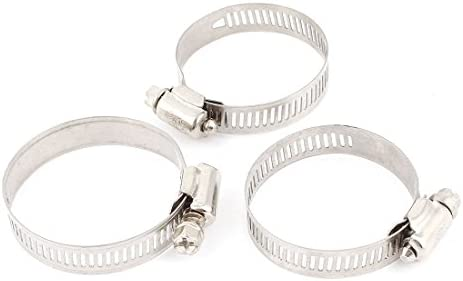 Cellarbrew 8-38mm Hose Clamp Kit 60pcs Adjustable Worm Gear Stainless Steel Power Seal Water Pipe Fuel Line Clips