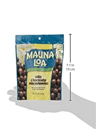 Mauna Loa Macadamias, Milk Chocolate, 6-Ounce Bags (Pack of 4)