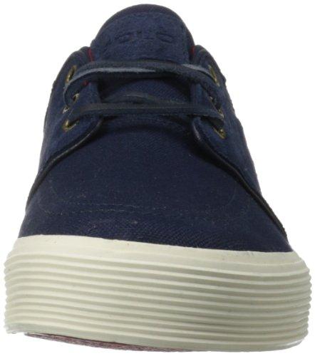 Polo Ralph Lauren Men's Faxon Low Suede Sneaker,Newport Navy/Newport Navy/Real Red,9.5 D US