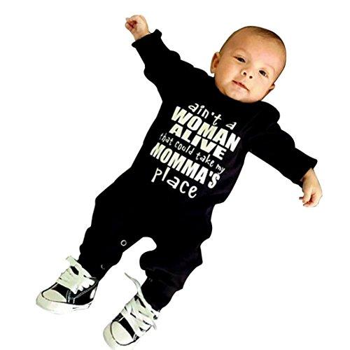 SALE ! Teresamoon Letter Print Romper ,Baby Solid Cotton Blend Jumpsuit Outfits Clothes Set (0-6 Months, (Cheap Baby Items)