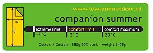 Algod/ón egipci 1475 gr +2/ºC Companion Summer Lowland Outdoor 210 x 80 cm
