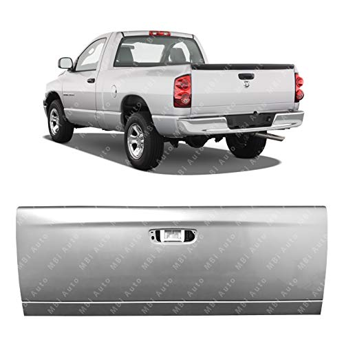 MBI AUTO - Painted PSB Silver Metallic Steel Tailgate Shell for 2002-2009 Dodge Ram 1500 2500 3500 02-08, CH1900121