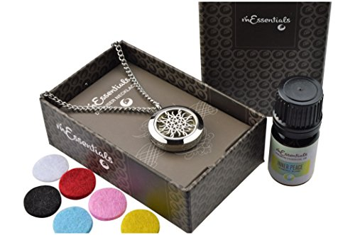 Love Knot Essential Oil Diffuser Necklace Stainless Steel Lo