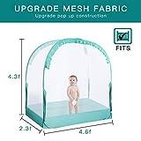 L RUNNZER Baby Safety Crib Tent, Pop up Nursery