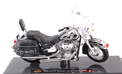 Modellino Moto Die Cast Maisto HARLEY DAVIDSON 2002 FLSTC HERITAGE SOFTAIL CLASSIC 1:18