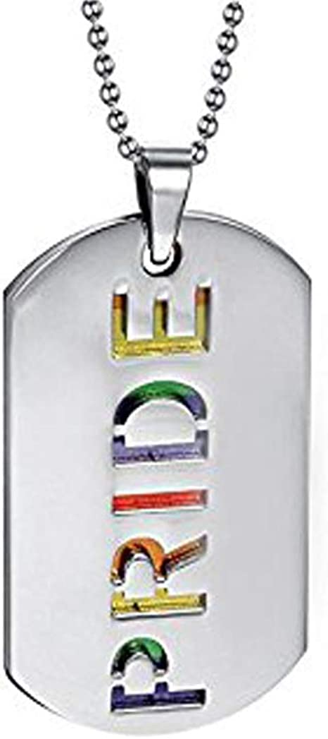 Dog Tag Keychain LGBTQ Pride Flags Double-Sided Choice of style Gloss Finish 1.125 x 1.875