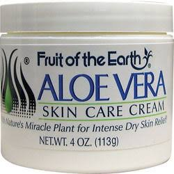 Fruit of the Earth Aloe Vera Cream 4 Oz. Jars(2 Pack)