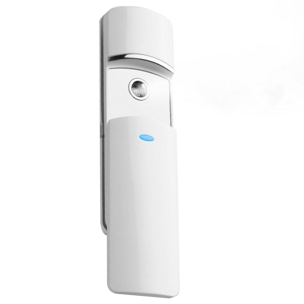 Atomizzatore spray portatile Nano atomizzatore facciale ricaricabile per extension delle ciglia Atomizzatore silenzioso senza fumi o irritazione (Bianco)