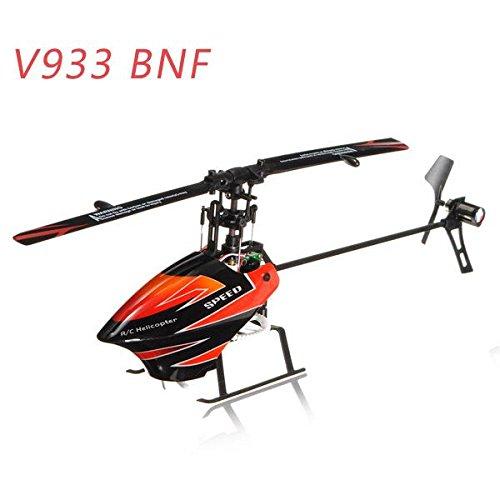 WLtoys V933 2,4 GHz 6 Kanal Fernbedienung RC Helikopter BNF (Farbe: rot Schwarz)