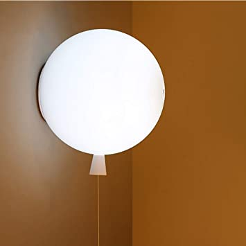 E27 Children S Wall Lamps Nordic Led Red White Yellow Round Acrylic Balloon Shaped Decorative Hanging Lamp Wall Light Modern Cafe Nursery Lighting Wall Sconce Color White Size 25cm Amazon Com