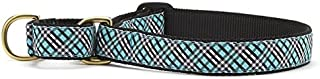product image for Up Country Aqua Plaid Martingale Dog Collar
