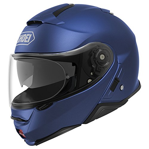 Shoei Solid Neotec 2 Modular Motorcycle Helmet - Matte Blue Metallic/Medium (Shoei Neotec Modular Helmet Best Price)