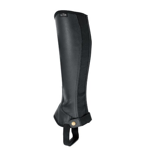 Saxon Women's Equileather Half Chaps Boots, Black, (Ladies Black Chaps)