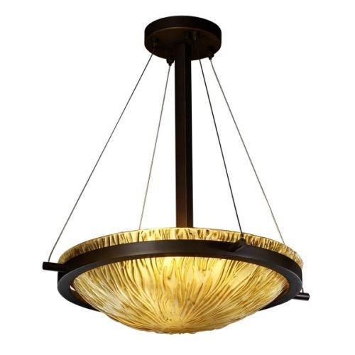 Justice Design GLA-9691-35-AMBR-DBRZ-LED-3000 3 Light LED - Ring 18