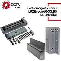 ZL Bracket Bundle//Electromagnetic Lock with LED UL Certified Holding Force for Access Control 12//24VDC /… Elock 1200 lbs MagLock