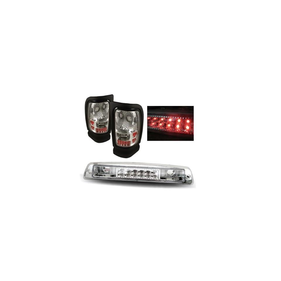 Luminx Lighting LU COMBO 9944 Dodge Ram Chrome Tail Lights + LED 3rd Brake Lights Combo