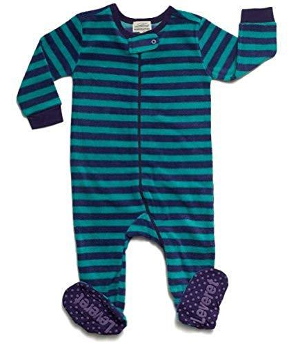 Leveret Kids Fleece Baby Boys Girls Footed Pajamas Sleeper (Size 12-18 Months, Blue & Green)