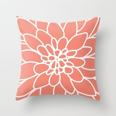 Decorative Arts Coral Modern Dahlia Flower New arrival comfortable pillowcase